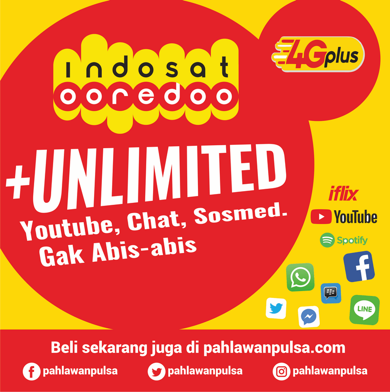 Paket Internet Indosat Unlimited - Unlimited + 10GB